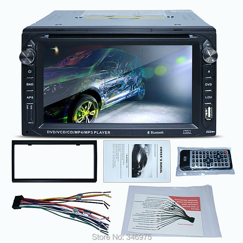 """Double DIN 2 Din 6.2"""" In dash Car Stereo CD DVD Player FM Stereo Radio Receiver USB Port and SD Card Slot Bluetooth(China (Mainland))"""
