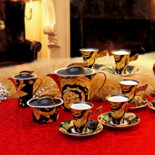 coffee tea set drinkware European high end fashion ceramic bone china tea sets Coffee cup kit