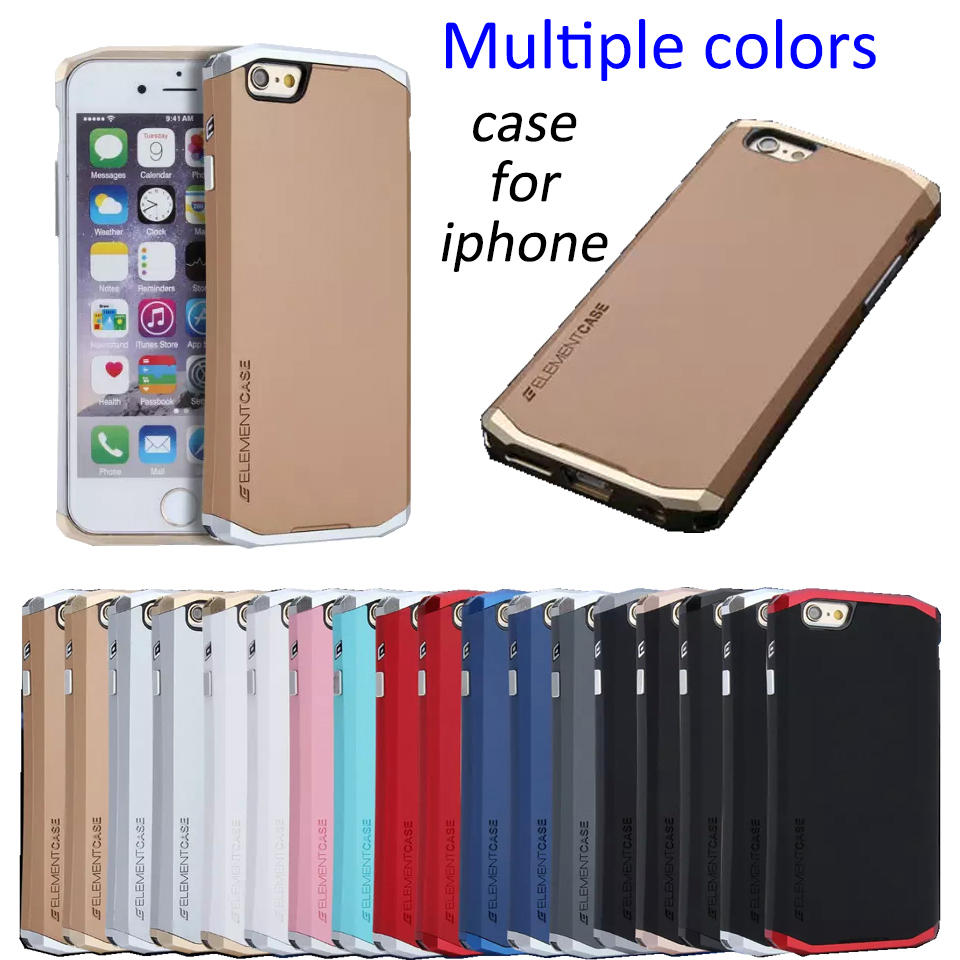 Free Shipping NEW ELEMENT Aluminum Metal Frame Back Cover Bag Matte Frosted Protector Case For iPhone SE 5 5S 6 6S Plus(China (Mainland))