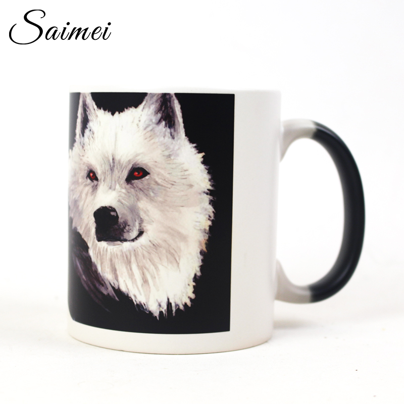 Saimei Color Change Mug Heat Reveal Ceramic Mugs Temperature Sensing Coffee Mugs with Handle Customizable Creative Gift with Box(China (Mainland))