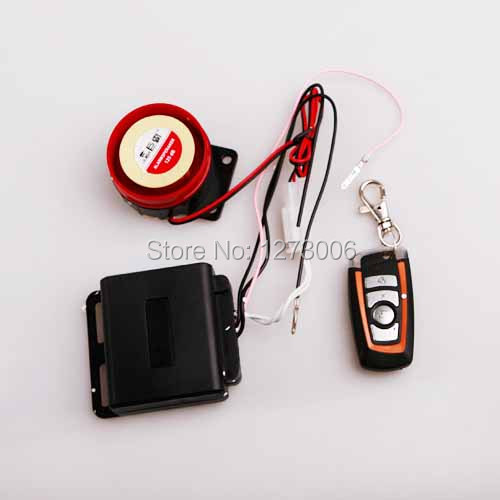 Hot 12V Car Motorcycle Remote Alarm Switch Loud Anti-theft Security Alarm For TaoTao AIM-EX Waterproof(China (Mainland))