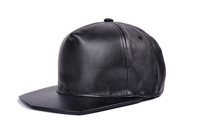 Hot 2015 Han Edition Style Water Chestnut Plate Leather Cap Ladies Flat Hat Along The Street DanceFashion Hat Snapback(China (Mainland))