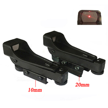 Buy Protable Tactical Reflex sight Red Dot Sight Scope Wide View Airgun 10 or 20mm Weaver Rail Mounts CR2032 3V New 2017New Arrival for $4.62 in AliExpress store