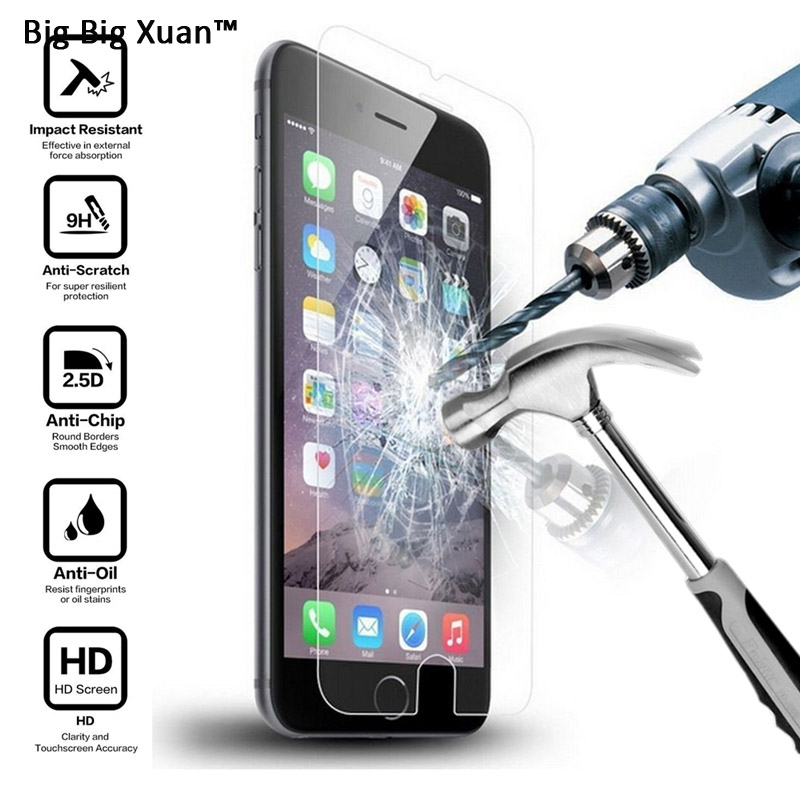 TOP Quality Real Tempered Glass Film For iPhone 6 6s 6Plus 6sPlus Front Transparent font b