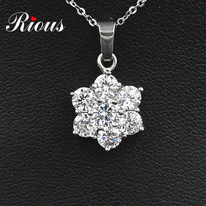Shine Full Zircon On Pendants,High Quality Necklaces,Stainless Steel Never Change Color,2014 Fashion Style(N2007)(China (Mainland))