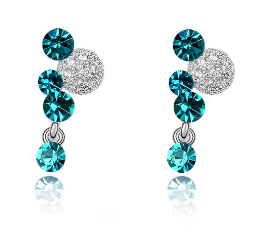 New Fashion Earrings Stud 18K  Gold Plated With Austrian Crystal Women Earrings<br><br>Aliexpress
