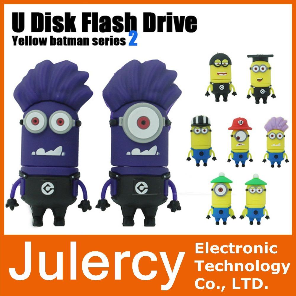 pen drive Minions usb flash drive 8GB 16GB 32GB 64GB pendrive Despicable Me Memory Stick U disk free shipping(China (Mainland))