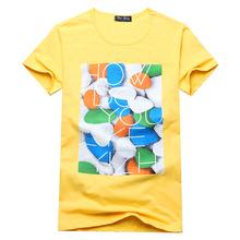 2015 Summer Mens Fashion Tops Tees Cool Short Sleeve t shirt Man Pullover Men's Beach T-shirt men's Cotton O-Neck T Shirt Men