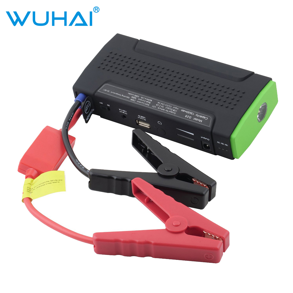 WUHAI Original Portable Car Jump Starter and Charger for Electronics Mobile Device Laptop Auto Engine Emergency