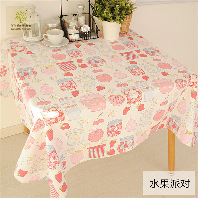 New Arrival Tablecloth 100% Cotton Cute Style Happy Fruit Dining Table Cloth 70*70cm 90*90cm 140*140cm Can be customized(China (Mainland))