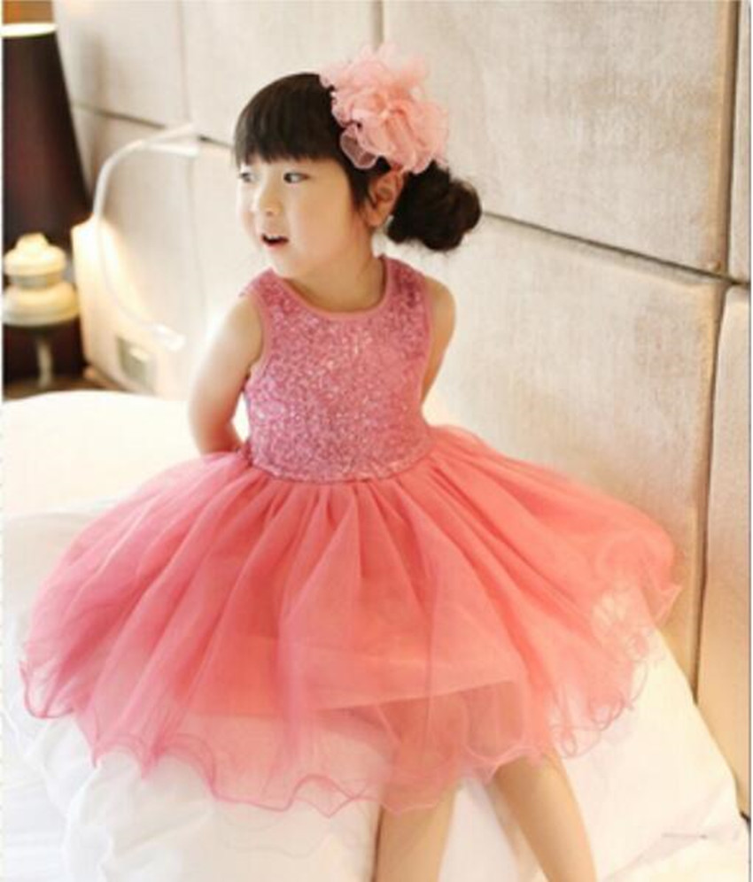 Girl Dress girls dresses summer 2016 Sequin Baby Girl Clothes Princess Tutu Children's Dresses kids Clothes,vestidos infantis(China (Mainland))