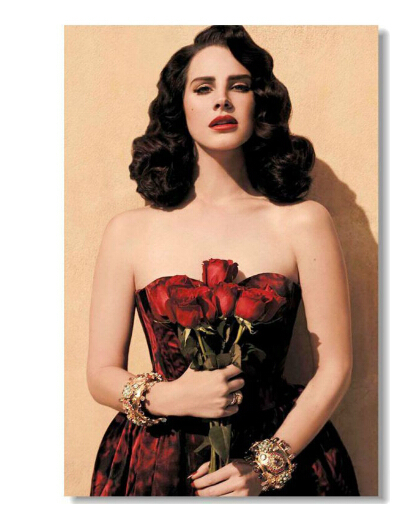 Removable Mural Home Decor Wall Sticker Make Your Horse Warm Custom Lana Del Rey Red Rose Skirt Big 20x30 inch Print Poster
