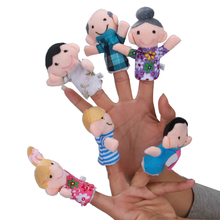 Buy 6 Pcs Finger Toy Family Storytelling Toys Hand Puppet toys Baby's Finger Puppets Plush puppet Gift #YL for $1.92 in AliExpress store