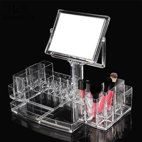 Homestyle Lipstick Holder Display Stand Clear Acrylic Cosmetic Organizer Makeup Case Storage Makeup Organizer(China (Mainland))