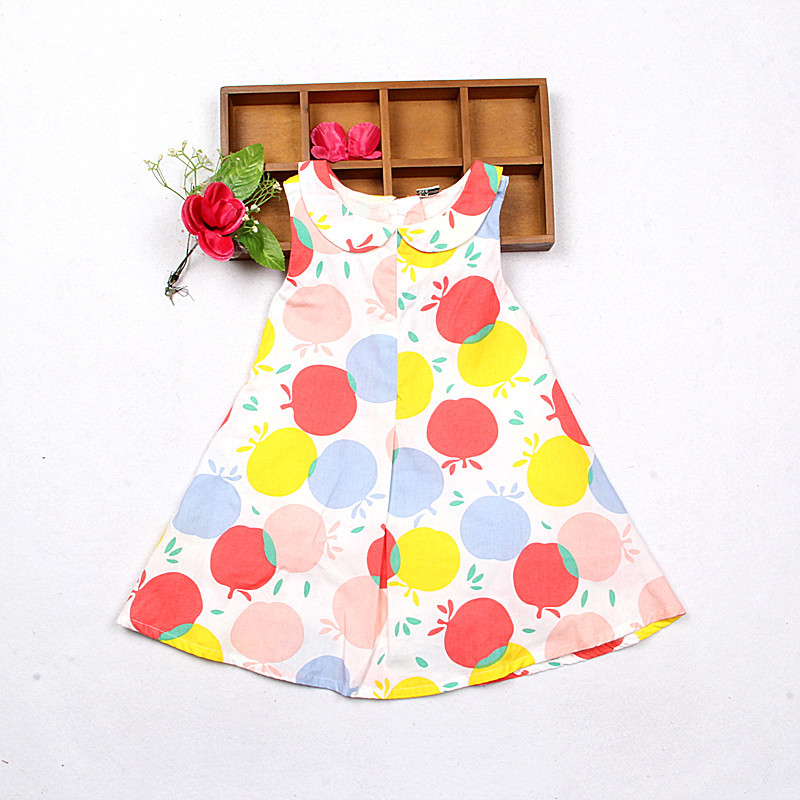 2016 summer new girls fashion dress apple<br><br>Aliexpress
