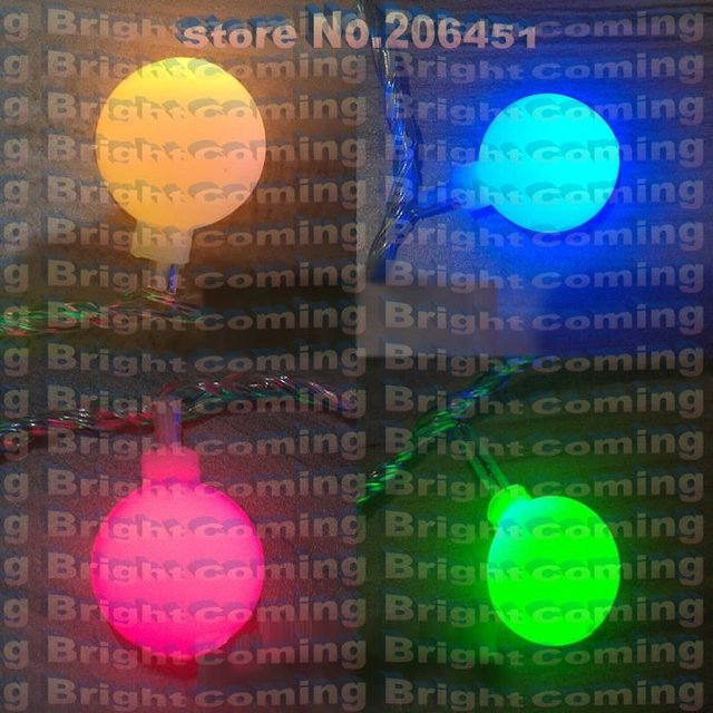 220V/110V 10M 100 D. 18mm Ball shape LED String multicolor/red/yellow for holiday party with controller, Plug and plug connector
