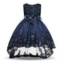 Подростков нарядное платье Для свадебной вечеринки младенческой Дети vestidos формальный повод носить на день рождения вечерние детская одежд...(China)