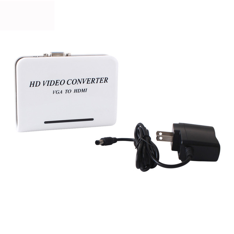 PC laptop VGA to HDMI HDTV converter Conversor with 3.5mm audio input up to 1080p HD Converters Free shipping(China (Mainland))