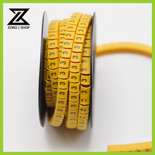 10rolls/lot 1.5mm square Cable Wire Markers Letter Number Symbol(China (Mainland))