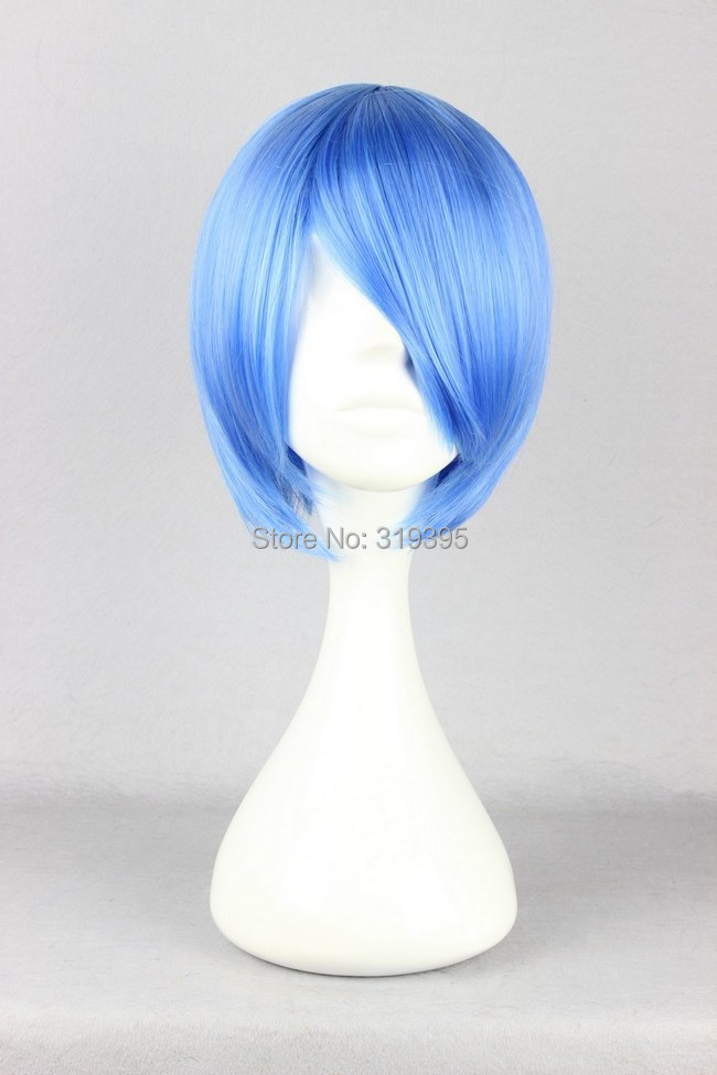 Cosplay Costume Wigs 30cm Short Blue Ayanami Rei Neon Genesis Evangelion Anime Show Party Hair <br><br>Aliexpress