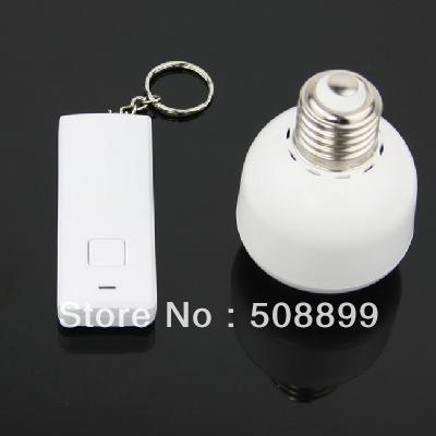 Freeshipping 10M  Remote Control Wireless Light Switch E27 Light Bulb Holder Adapter Bases 2pcs/lot+Dropshipping