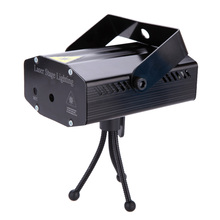 Professional LED Red& reen Laser Projector Stage Light with Tripod Automatical AC110-240V For DJ Disco Video Party Club US Plug(China (Mainland))
