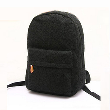Fashion Cute Girls Lace Canvas Backpack Bag School Bag Bookbag Black(China (Mainland))