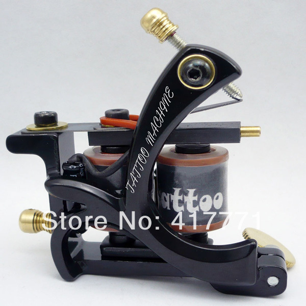 New Design Handmade Custom Tattoo Machines 10 Wrap Coils Tattoo Gun free shipping  M031<br><br>Aliexpress
