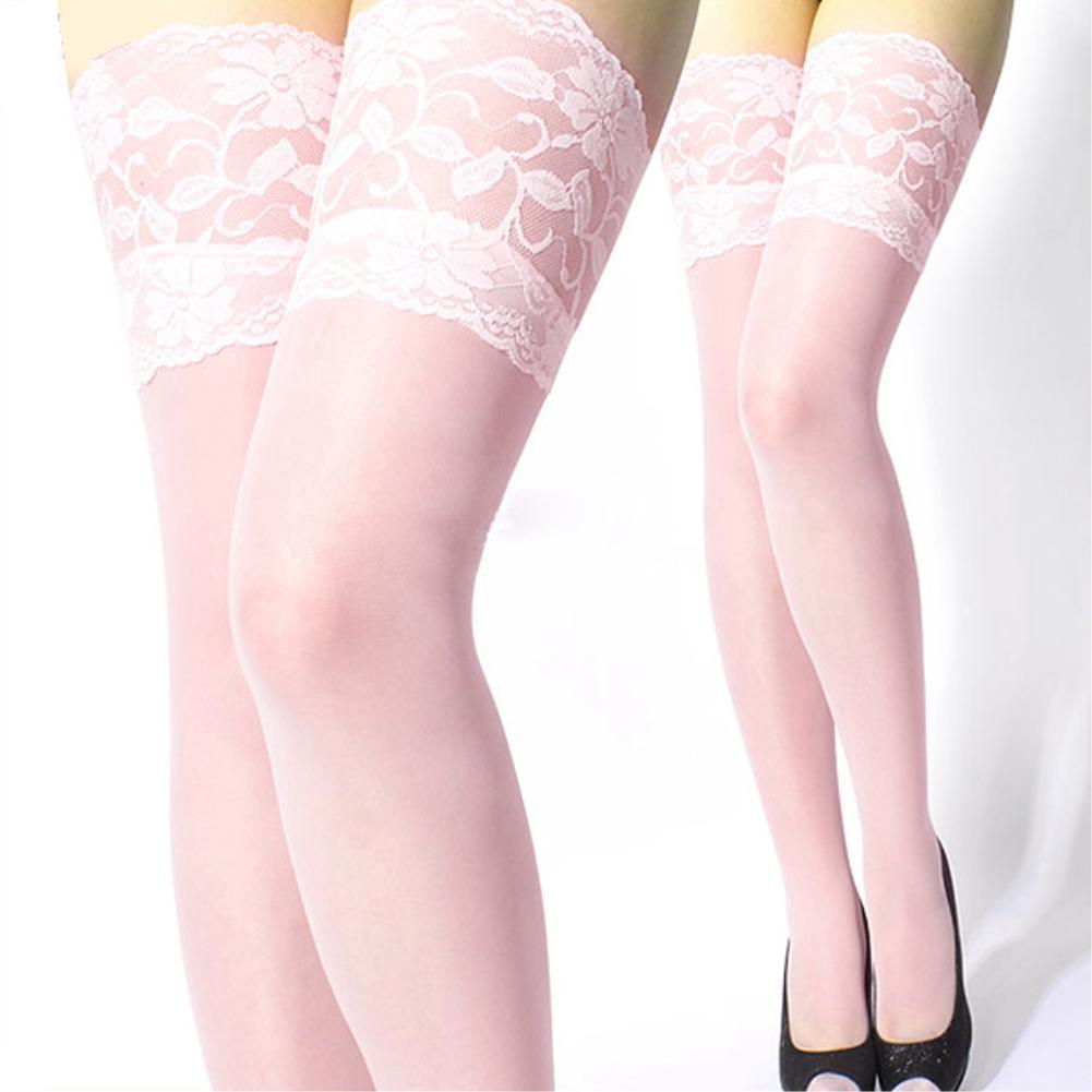 Chaep+Free shipping Sexy Lady Slim Leggings 1pair Fashion Sexy Ultrathin Lace Top Sheer Thigh High Silk Stockings Long(China (Mainland))