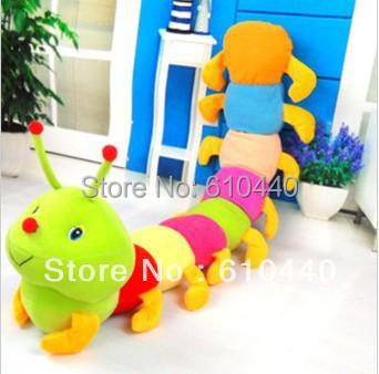 bridthday Festival gift cute Colorful caterpillars millennium plush toys 60cm children's adult's toys