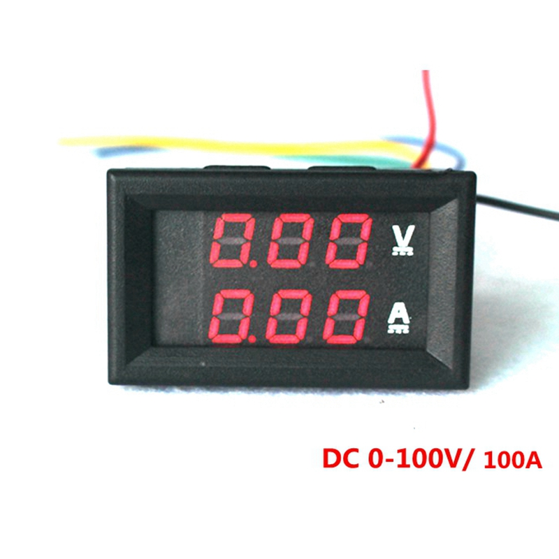 buy led digital dc voltmeter ammeter dc 0 100v 100a voltmeter ammeter volt amp. Black Bedroom Furniture Sets. Home Design Ideas