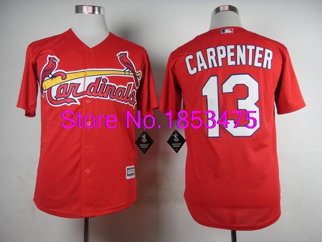 Good Quality Mens 2015 New Fabrics St. Louis Cardinals Jerseys #13 Matt Carpenter Baseball Jersey,Embroidery and Sewing Logos(China (Mainland))
