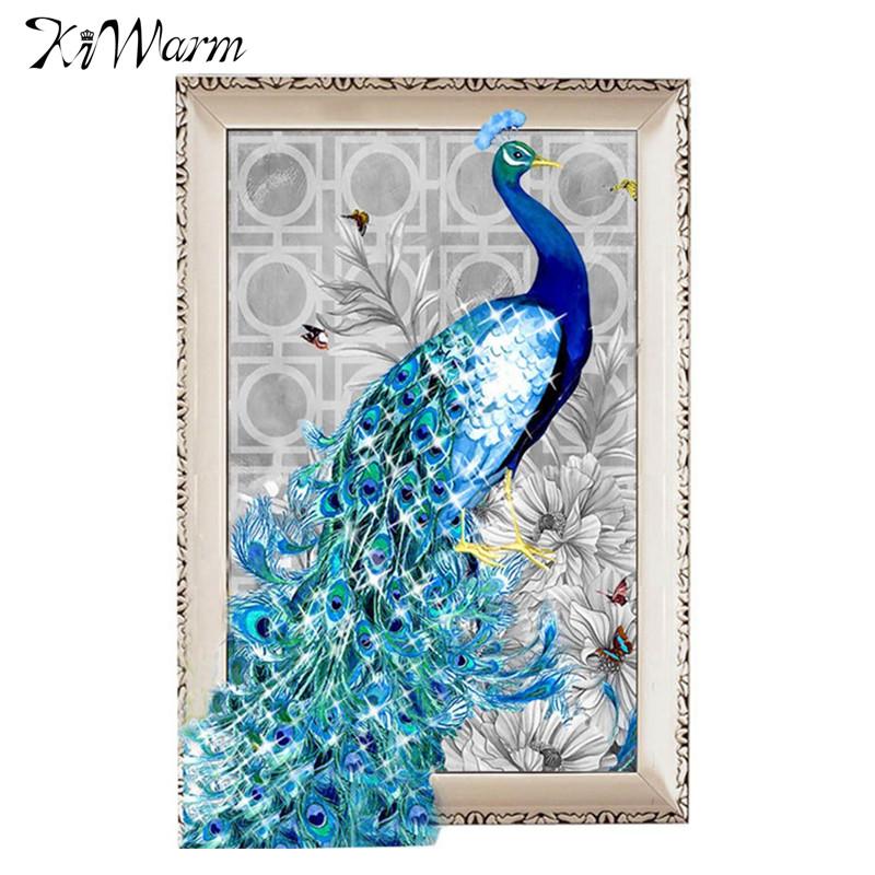 <font><b>Elegant</b></font> DIY 5D Diamonds Embroidery Diamond Mosaic New Peacock Soul Love Round Diamond Painting CrossStitch Kits <font><b>Home</b></font> <font><b>Decoration</b></font>