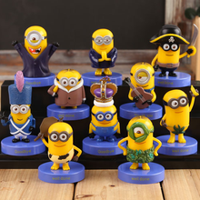 2015 new 10pcs/set Minions model toys despicable me 3 movie Minions pvc action figure toy gifts for kids hot free shipping