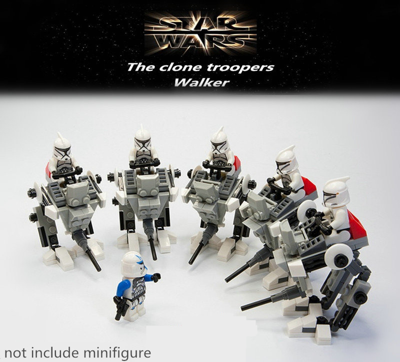 1PCS STAR WARS Soldiers Robot Droid Clone WAR Commander Darth Vader Minifigure Model Buliding Blocks Toys Compatible With LEGO(China (Mainland))