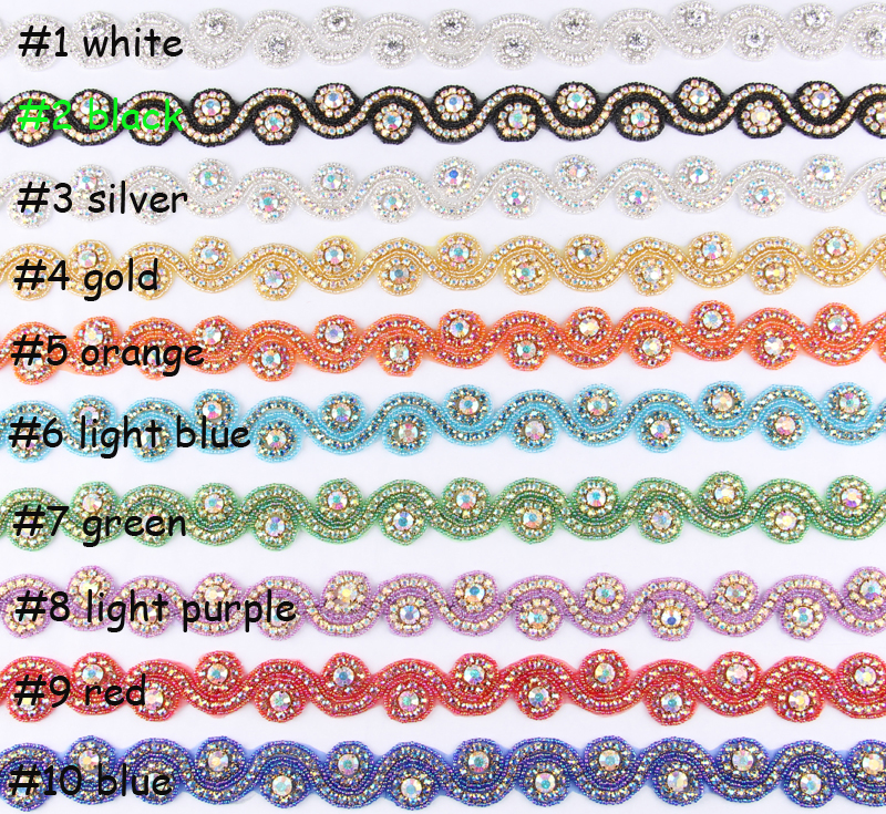 (2Yard/lot) 10Style Artificial Clear Crystal Rhinestone Chain Applique Trim For Costume Hairband Shoes Beaded Rhinestone Button(China (Mainland))