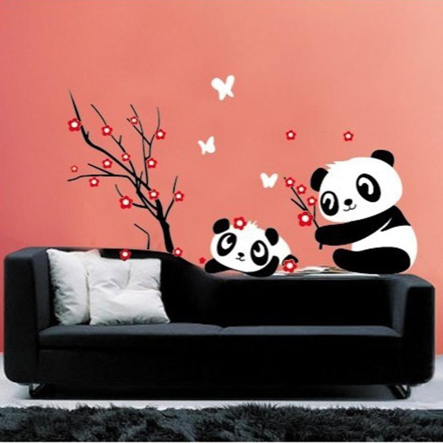 Prevalent New 1pcs DIY Panda Bamboo Pattern Removable Vinyl Decal Home Decor Wall Sticker Free Shipping Mar31(China (Mainland))
