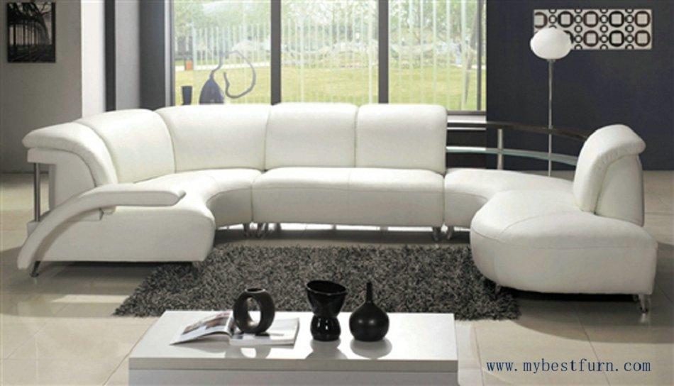 Nice White Leather Sofa Free Shipping Fashion Design Comfortable good look sofa couches set designer Sofa New Home Furniture(China (Mainland))