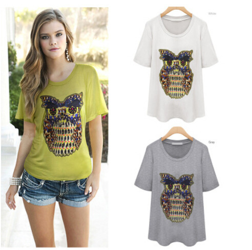 Aliexpress summer 2014 new womens bottoming shirt leisure letters T-shirt SK0648 a issuing abroad<br><br>Aliexpress