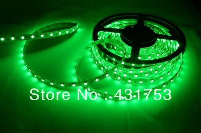 20meters/lot 5050 5m 300 Led SMD Led Strip Waterproof 60 Led per meter  White/Blue/Green/Red/Yellow/RGB  Non-waterproof