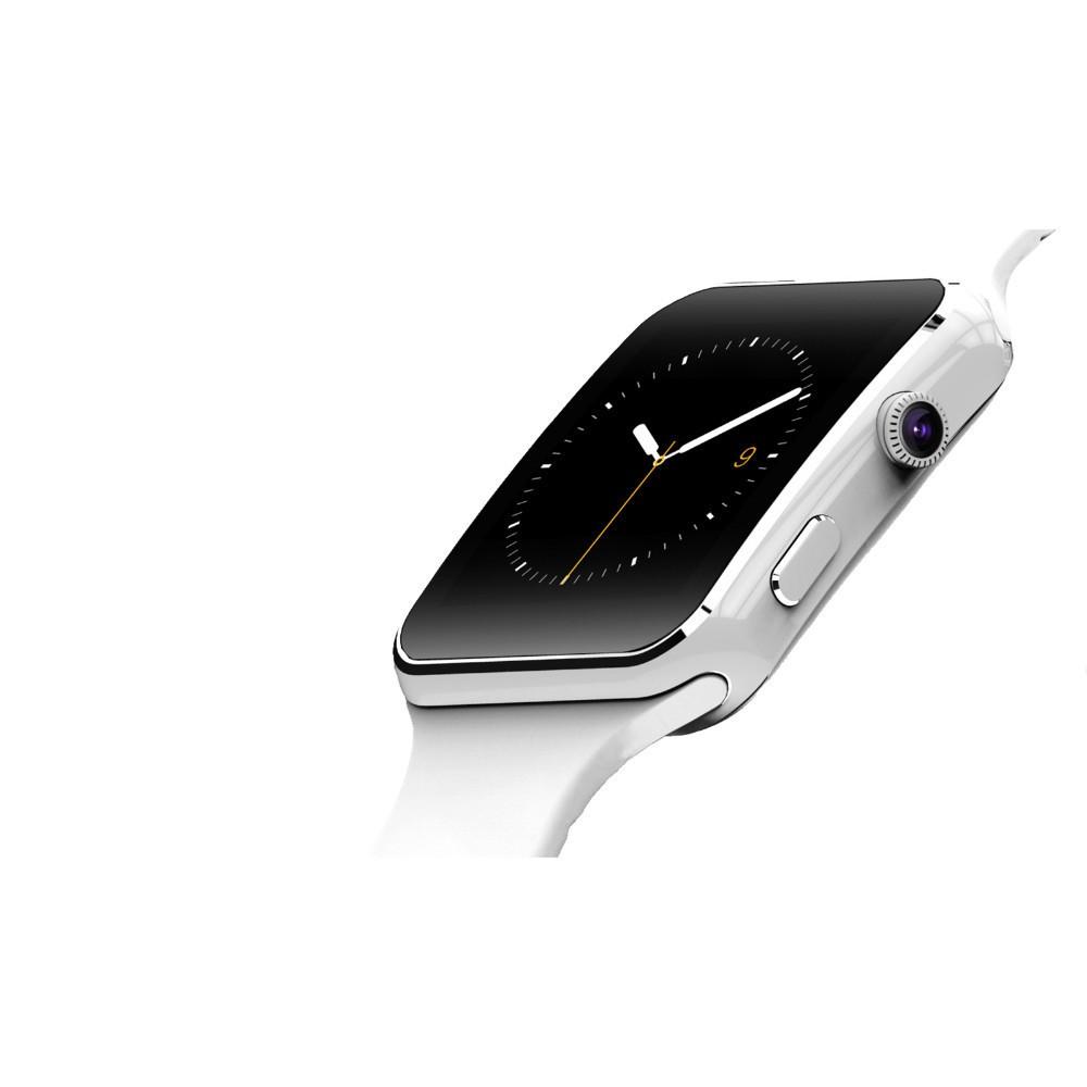 ถูก 2016ใหม่ดูสมาร์ทบลูทูธX6 S Mart W Atchนาฬิกาสปอร์ตสำหรับแอปเปิ้ลip hone A Ndroidโทรศัพท์กับกล้องFMสนับสนุนซิมการ์ดT30