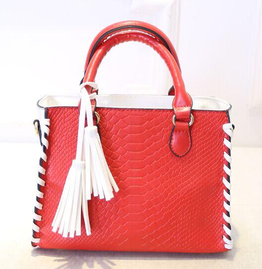 Crocodile pattern tassel handbag,new fashion design stringing  shoulder messenger bag, high quality brand bags women lady<br><br>Aliexpress