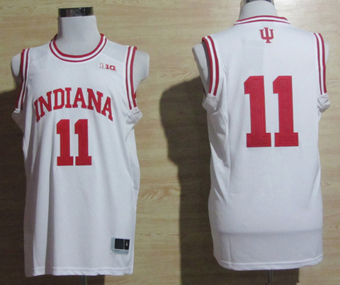Free shipping Ncaa Indiana Hoosiers #11 Isiah Thomas red/ white college basketball jerseys mix order(China (Mainland))
