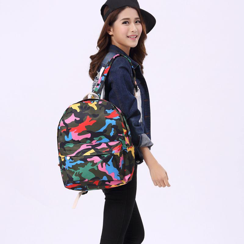 2016 New Fashion Casual Canvas Backpack Harajuku Campus Teens School Bags Hot Floral Printing Knapsack(China (Mainland))