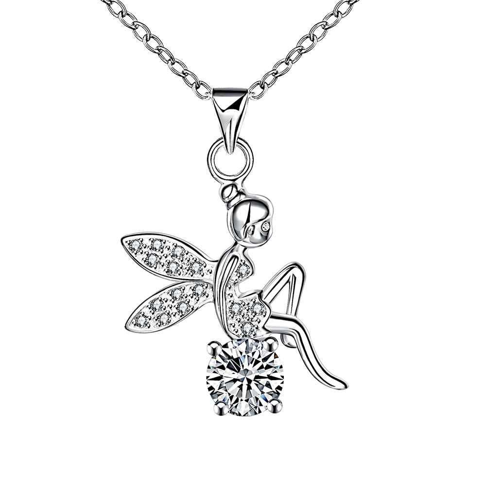 Free Shipping New 2015 silver-plated necklaces & pendants Angel wings perfume women jewellery(China (Mainland))
