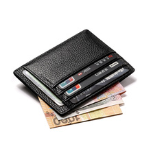 Cow Leather Slim Business Card Holder Wallet Female 8 Credit Card Case Middle Money Pocket Ultra Thin Women Coin Purses Holders(China (Mainland))