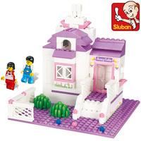 Free shipping Sluban M38-B0156 pink Honey Cabin children educational assembling toys diy building blocks toy  girl toys
