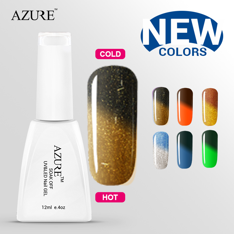 Azure UV lamp gel China Chameleon Temperature varnish Change Color nail gel color best price uv gel nail polish sets low price(China (Mainland))