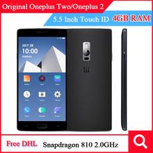 "Original Oneplus Two/Oneplus2 Mobile Phone OP2 4G FDD LTE Snapdragon810 Octa Core 5.5"" 1920×1080 4GB/64GB Fingerprint ID"