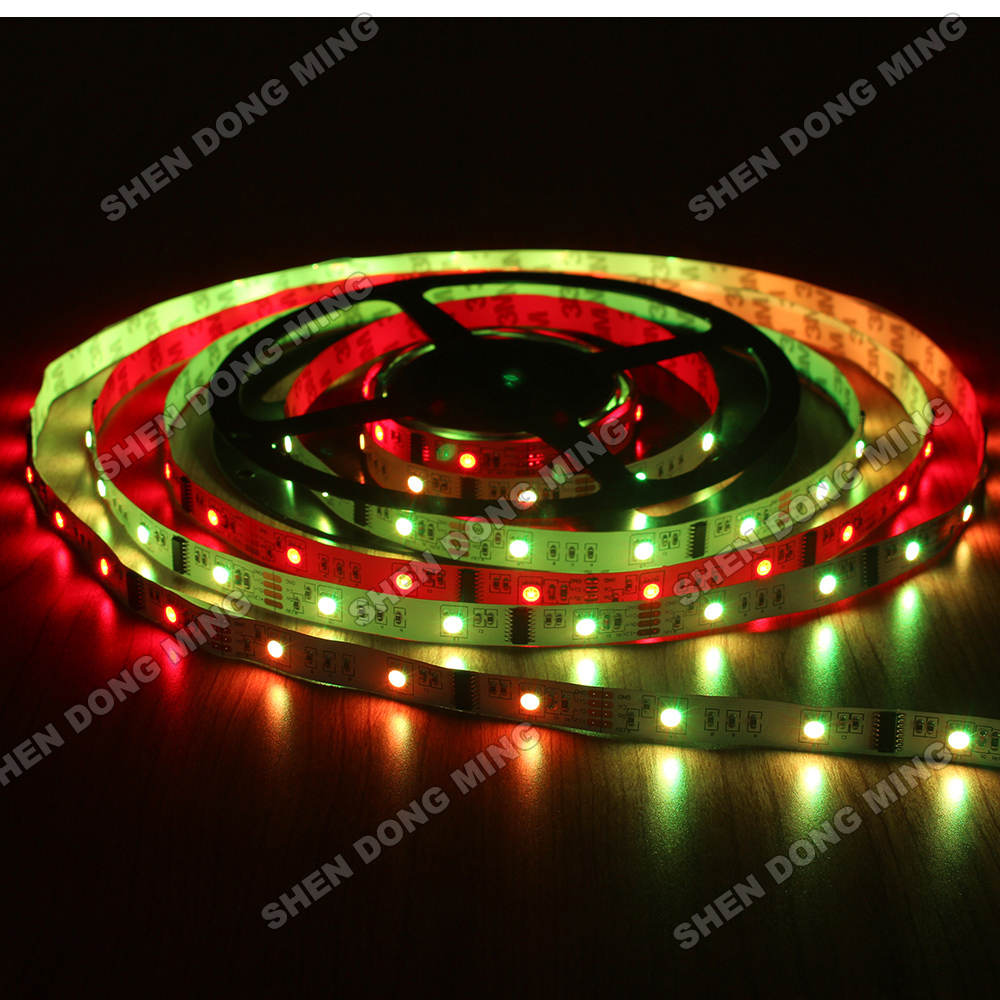 changeable dream color Led Pixel Strip LPD6803 15m Waterproof IP22 Digital LED Strip RGB 10IC 30Leds Full Colors neon light(China (Mainland))